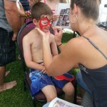 Face painting by Joelle.